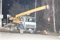 Глубина провала на Одоевском шоссе в Туле - примерно 3 метра, Фото: 12