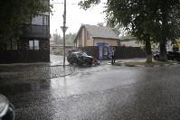 На ул. Циолковского автомобиль снес остановку, Фото: 10