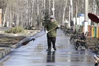 Субботник в Комсомольском парке с Владимиром Груздевым, 11.04.2014, Фото: 10