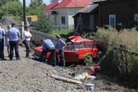В Узловском районе поезд протаранил легковушку, Фото: 7