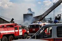 Пожар на хлебоприемном предприятии в Плавске., Фото: 33