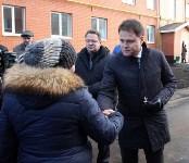 Кимовские новоселы получили ключи из рук губернатора Владимира Груздева, Фото: 8