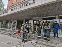 Учения МЧС: В Тульской областной больнице из-за пожара эвакуировали больных и персонал, Фото: 26