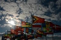 Флаги национальных сборных стран-участниц XXII Олимпийских зимних игр в Олимпийской деревне в Сочи., Фото: 8