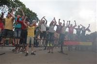 """Файер-шоу от болельщиков """"Арсенала"""". 16 мая 2014 года, Центральный парк, Фото: 28"""