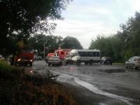 На Орловском шоссе столкнулись «Дэу» и микроавтобус, Фото: 5
