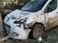 В Туле Mazda-3 сбила рябину и влетела в припаркованный Peugeot , Фото: 3
