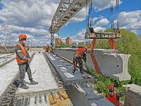 Восточный обвод: Строительство моста через Упу, Фото: 16