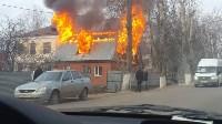 На Одоевском шоссе сгорел дом, Фото: 8