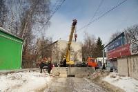 Демонтаж бетонных плит на Ханинском проезде, 10.02.2016, Фото: 2