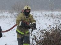 Тульские огнеборцы ликвидировали условное  возгорание в селе Прудное, Фото: 17