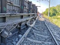 В Тульской области грузовой поезд сошел с рельсов, Фото: 2