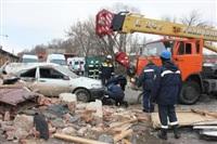 Взрыв баллона с газом на Алексинском шоссе. 26 декабря 2013, Фото: 1