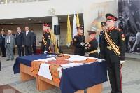 В Музее оружия торжественно укрепили на древке знамя суворовского училища, Фото: 4
