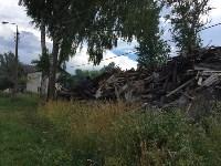 Горит строительный мусор в Узловском районе, Фото: 8